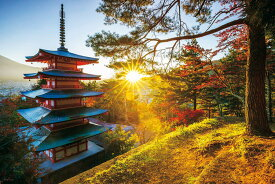 YAM-10-1326 風景 朝陽と五重塔(山梨) 1000ピース ジグソーパズル やのまん パズル Puzzle ギフト 誕生日 プレゼント