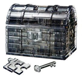 BEV-50137 クリスタルパズル トレジャーボックス・ブラック 52ピース 立体パズル
