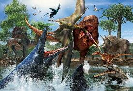 BEV-L74-168 服部 雅人 ティラノサウルス VS モササウルス 150ラージピース ジグソーパズル