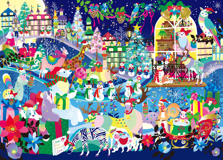 EPO-79-128s ホラグチカヨ 聖なる夜のシロクマの恋 500ピース ジグソーパズル 【あす楽】 パズル Puzzle ギフト 誕生日 プレゼント