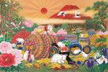 EPO-15-084日本画・吉祥柄開運干支子1500ピース●予約ジグソーパズル