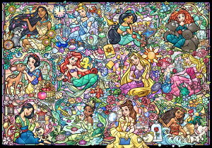 TEN-DS1000-776 ディズニー ディズニープリンセス コレクション ステンドグラス (プリンセス) 1000ピース ジグソーパズル パズル Puzzle ギフト 誕生日 プレゼント