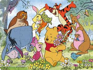 TEN-DL63-702 ディズニー たのしいおはなばたけ (くまのプーさん) 63ピース 子供用パズル パズル Puzzle 子供用 幼児 知育玩具 知育パズル 知育 ギフト 誕生日 プレゼント 誕生日プレゼント