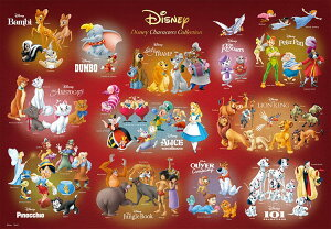 TEN-D1000-066 ディズニー Disney Characters Collection (オールキャラクター) 1000ピース ジグソーパズル パズル Puzzle ギフト 誕生日 プレゼント 誕生日プレゼント