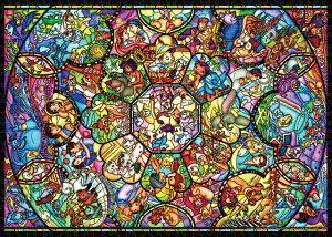 TEN-DW1000-008 ディズニー オールスター ステンドグラス 1000ピース ジグソーパズル パズル Puzzle ギフト 誕生日 プレゼント 誕生日プレゼント