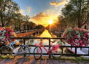 YAM-05-1049 風景 光射す運河と町並(アムステルダム) 500ピース ジグソーパズル やのまん パズル Puzzle ギフト 誕生日 プレゼント