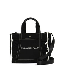 [Rakuten Fashion]フリルトート(大) JILL by JILLSTUART ジル バイ ジルスチュアート バッグ バッグその他 ブラック ホワイト ブルー【送料無料】
