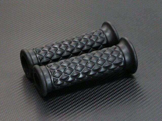 ハンドル グリップ ラバー ダイアモンド ブラック Z1 Z2 Z650 Z750RS Z900 Z1000 モンキー GB250クラブマン CB750F SR400 ボルティ エストレア バリオス ゼファー400 ゼファー750 ゼファー1100 W400 W650 W800 カフェレーサー
