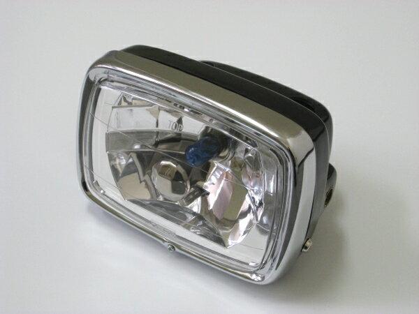 マルチリフレクター ヘッドライト ミニ用 スクエア/ブラックケース モンキー ゴリラ エイプ シャリー ダックス NSR50 NSR80 YB-1 XR50モタード 10P13Jun14