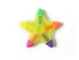 【NEW商品】asoko(アソコ)星型 蛍光ペン5色ペンスターマーカーペンASOKO