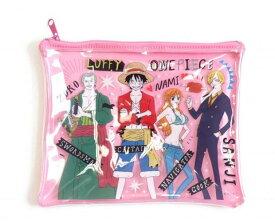 【NEW商品】asoko(アソコ)ワンピース ONE PIECE コラボ ビニールポーチ(ピンク)ワンピースキャラクター 数量限定 売り切れ御免 小物ケース 小物入れ