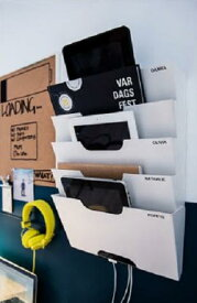 【人気商品】【7/1(月)より順次発送】IKEA(イケア)KVISSLEウォール 新聞ラック/書類整理/書類ラック/オフィス収納