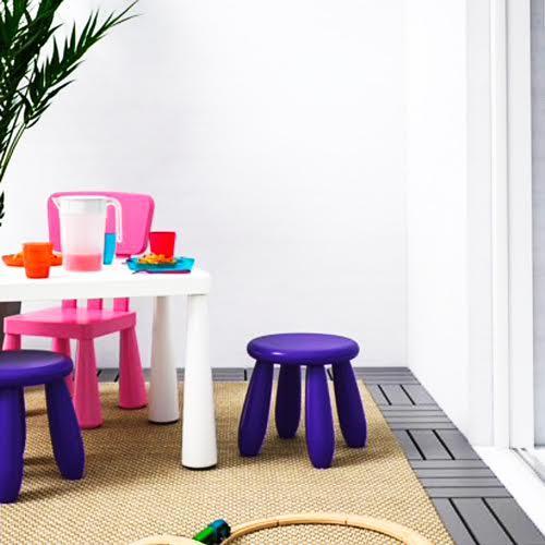 IKEA(イケア)MAMMUT 子供用スツール マンムット 503.823.27 ダークライラック