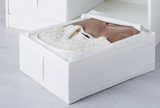 【便利なベッド下収納★】IKEA(イケア)SKUBB スクッブ ベッド下収納ボックス/ホワイト 収納ケース