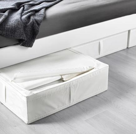 【便利なベッド下収納★】IKEA(イケア)SKUBB スクッブ 収納ケース ホワイト 69x55x19 702.949.90