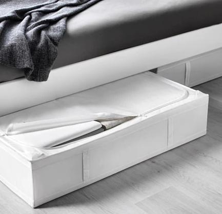 【便利なベッド下収納★】IKEA(イケア)SKUBB スクッブ ベッド下収納ボックス ホワイト 収納ケース 93x55x19 cm