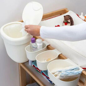 IKEA(イケア)ONSKLIG収納バスケットチェンジングテーブル用4個セットホワイト