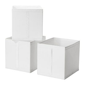 【人気商品】IKEA(イケア)SKUBB スクッブ  ボックス 3ピースホワイト 31x34x33 cm 収納ボックス