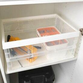IKEA(イケア)SPASIG スポースィグ折りたたみボックス 透明ホワイト便利な収納ボックス キャンプ 車内収納 キッチン収納 リビング 子供部屋収納