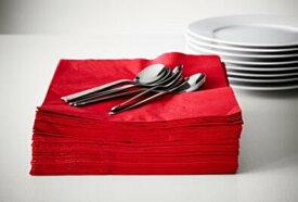 IKEA(イケア)FANTASTISK ファンタスティスク紙ナプキン レッド 50ピースクリスマス イベント お祝いペーパーナプキン