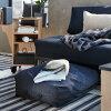 IKEA(イケア)RAVARORローヴァロール収納バッグ持ち手とショルダーストラップ付きヴァンスタダークブルー78x50cmキャンプ収納バッグコンパクトバッグ衣類整理衣類収納寝具収納