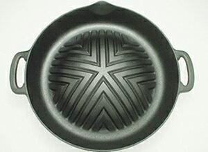 南部鉄器製ジンギスカン鍋(穴無し・29cm)/ジンギスカン鍋 鍋 バーベキュー BBQ ラム肉 羊肉 仔羊肉 マトン モモ肉 もも肉 生ラム ジンギスカン じんぎすかん 秘伝のタレ たれ ヘルシー オー