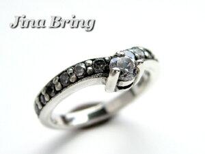 メール便 送料無料 可愛い ピンキーリング シルバー925 素材 レディース リング 指輪 ジルコニア ティアラ