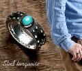 送料無料【ターコイズリング】天然石ターコイズネイティブスタンプシンプルスタッドリングパワーストーンメンズレディースリング指輪シルバーリングシルバー925
