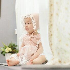 【30%OFFセール】bloom bebe レースロンパース帽子セット 韓国子供服 ロンパース 夏服 ワンピ ワンピース ベイビーワンピ 赤ちゃんワンピ 赤ちゃん 女の子 ベイビー 出産祝い 長袖 可愛い ガーリー