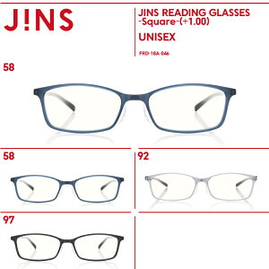 【JINS READING GLASSES -Square-】(+1.00)老眼鏡 リーディンググラス-JINS(ジンズ)