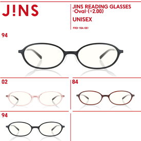 【JINS READING GLASSES -Oval-】(+2.00)老眼鏡 リーディンググラス-JINS(ジンズ)