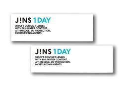 JINS1DAYジンズワンデーコンタクトレンズ1日使い捨てクリアコンタクト30枚入