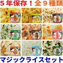 サタケ マジックライス 9種類セット 9食セット 5年保存食 アレルギー対応食品【非常食セット 非常食 セット 3日分 ご…