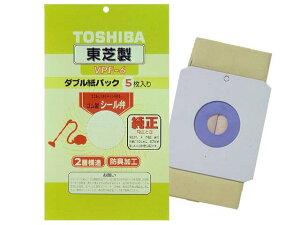 VPF-6 東芝 クリーナー用 純正紙パック (防臭加工・5枚入) TOSHIBA シール弁付ダブル紙パック [VPF6]
