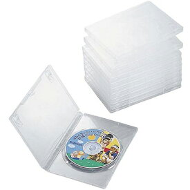 CCD-DVD03CR エレコム DVDトールケース、1枚収納、10個入(クリア)