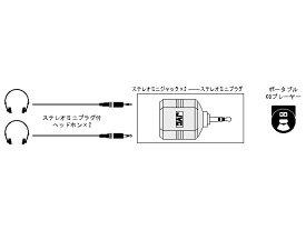 AP-120A JVC ステレオミニプラグ⇔ステレオミニジャック(×2)