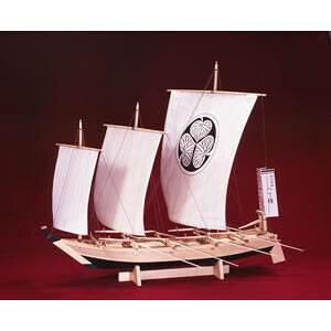 1/24 木製帆船模型 八丁櫓 木製組立キット ウッディジョー