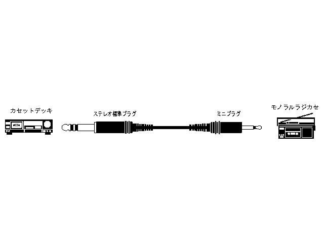CN-127A JVC ステレオ標準プラグ⇔(モノラル)ミニプラグ 1.5m