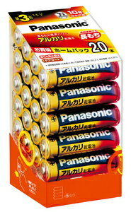 LR6XJ/20SH パナソニック アルカリ乾電池単3形 20本パック Panasonic [LR6XJ20SH]【返品種別A】