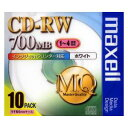 CDRW80PW.S1P10S【税込】 マクセル データ用4倍速対応CD-RW 10枚パック 700MB ホワイトプリンタブル [CDRW80PWS1P10S]...