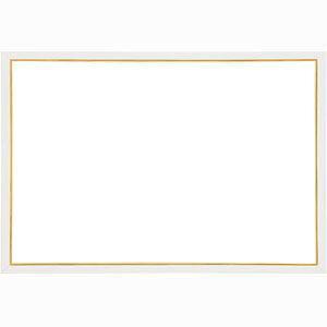 ウッディーパネル エクセレント ゴールドライン シャインホワイト【10-D】(サイズ:49.0cm×72.0cm) エポック社