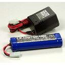 タミヤ ニカドバッテリー 7.2V カスタムパックと充電器 【55087】 タミヤ