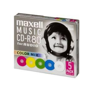 CDRA80MIX.S1P5S マクセル 音楽用CD-R80分5枚パック カラーMIX [CDRA80MIXS1P5S]【返品種別A】