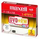 D+RW47PWB.S1P5S マクセル データ用4倍速対応DVD+RW 5枚パック4.7GB ホワイトプリンタブル maxell