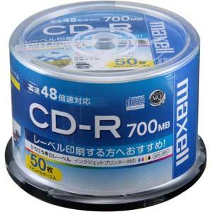 CDR700S.WP.50SP マクセル データ用700MB 48倍速対応CD-R 50枚パック ホワイトプリンタブル