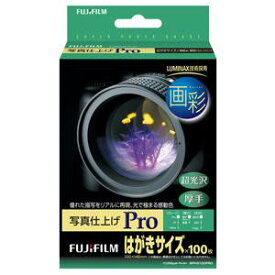 WPHS100PRO 富士フイルム 画彩 写真仕上げ Pro はがきサイズ 100枚
