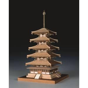 1/150 木製模型 法隆寺 五重の塔 ウッディジョー