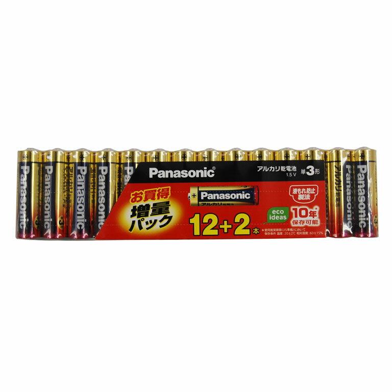 LR6XJSP/14S パナソニック アルカリ乾電池単3形 12本パック+2本パック(増量パック) Panasonic [LR6XJSP14S]【返品種別A】