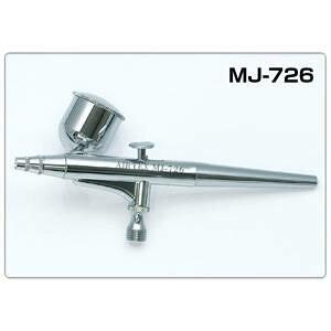 ダブルアクションエアブラシ MJ-726 0.3mm+サイドカップ エアテックス