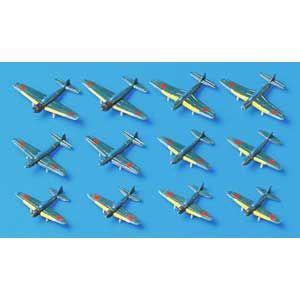 1/700 日本航空母艦搭載機・後期セット ウォーターラインシリーズ【31516】 静岡模型教材協同組合